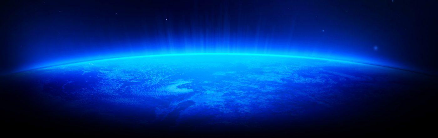 Space High Resolution Shine Lights Blue