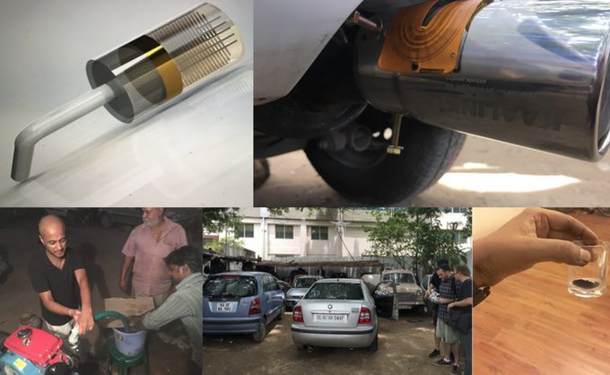 Kaalink Air Ink Harvesting Carbon Particles from Cars