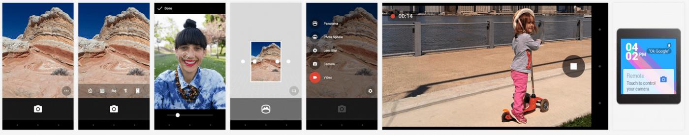 google camera app screenshots