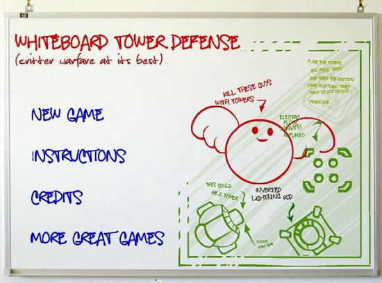 10. Whiteboard Tower Defense