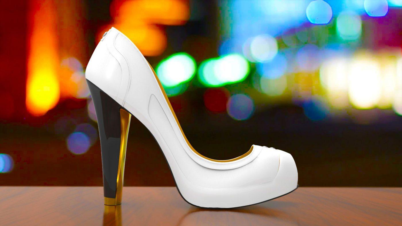 e ink high heel smart shoes change colors with an app. Black Bedroom Furniture Sets. Home Design Ideas