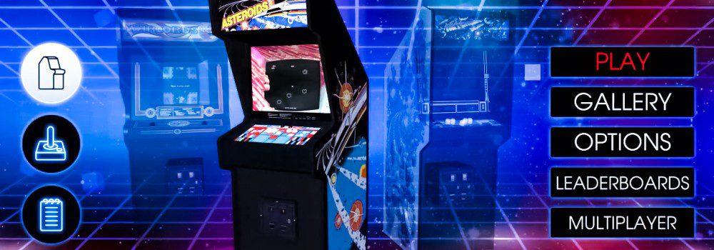 Atari Vault Screenshot Menu Asteroids Steam PC Modern Graphics