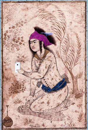 Old Painting iPhone Cameo Asian Influence Historic Smartphone