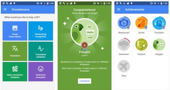 Crowdsource App Google Contributions