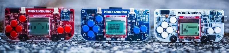 MAKERbuino Different Models Versions Colors Parts