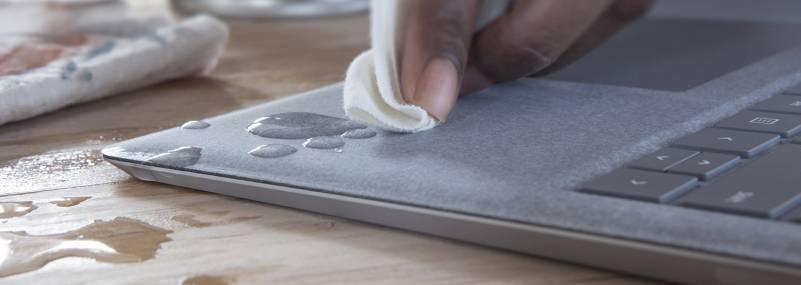Microsoft Surface Laptop durable Alcantara covered keyboard