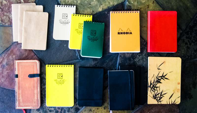Notebooks Journals Lying Floor Many Types Design Styles Colors Patterns Tiles Productivity Writing To Do Lists Dave Crenshaw