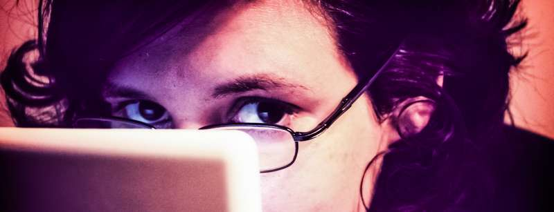 Sleepy Woman Sitting Computer Notebook Working Focus Tired Productivity Tips Guideline Enterprise