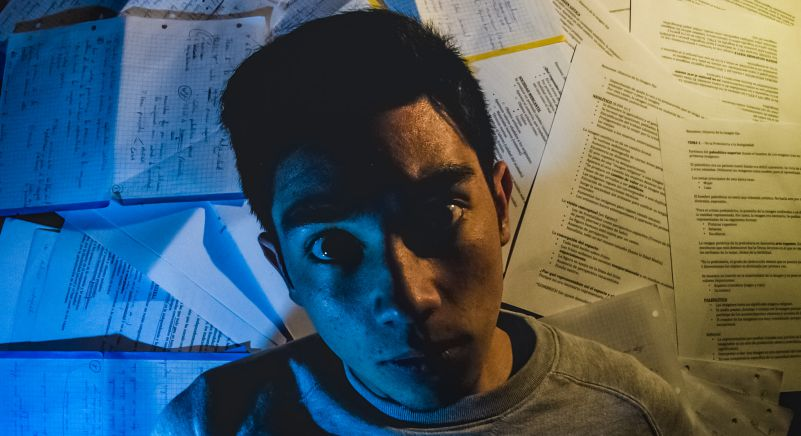 Stressed Studies Studying Boy Man Looking Distressed