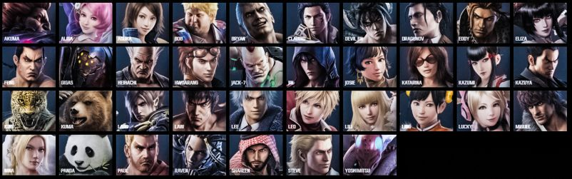 Tekken 7 Characters Roster Line Up All New Old Playable Fighters