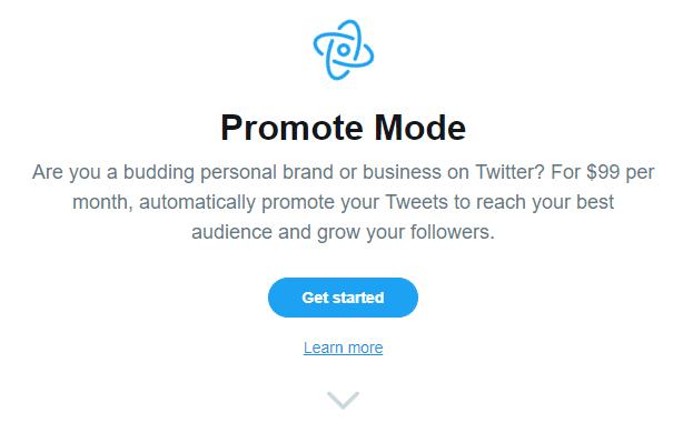 twitter promote mode screenshot beta