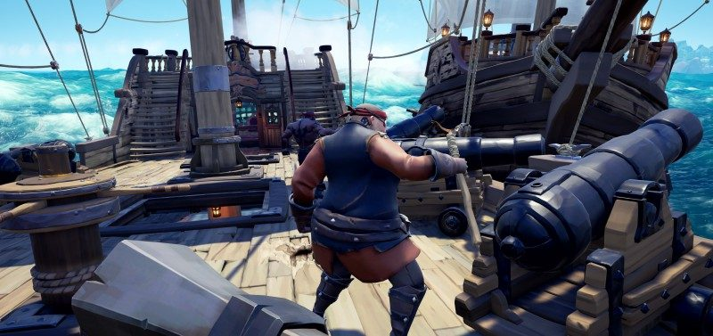 Sea-of-Thieves-Review-Battle-Pirates-Ships-Crashing-Clashing-Players-Rivals