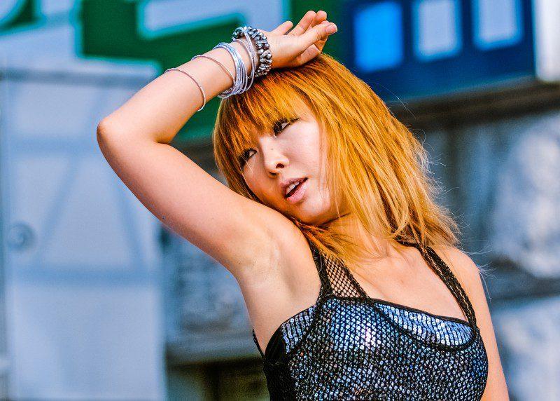 Dancing Girl Woman Female Dancer Asian Korea American Friendship Festival Tik Tok App Music Video Shooting Social Network New iPhone