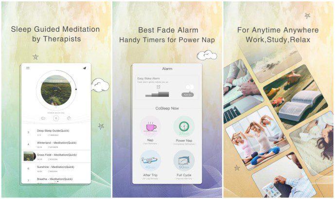 CoSleep App Screens Demo Review Free Sleep Noise Machine Loop Generator