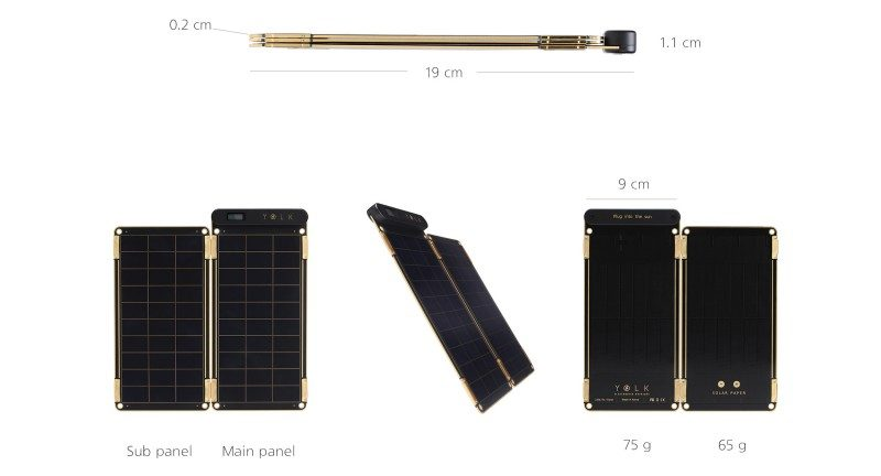 yolk solar paper charger review gadget dimensions data size thin small