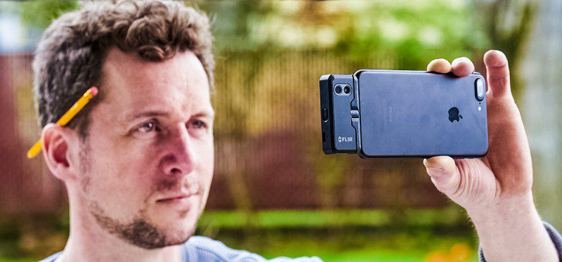 Flir One Pro Review Opinion Unboxing Tech Article Heat Camera Product Shot Front iOS Android Thermal Cam App Gadget Handyman Working Heavy Duty