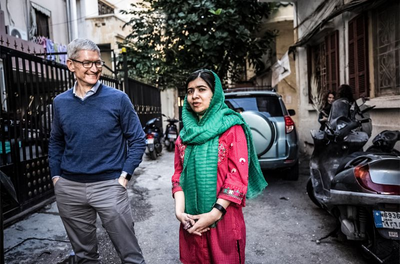 Malala Yousafzai Tim Cook Fund Brazil Girls Education Apple