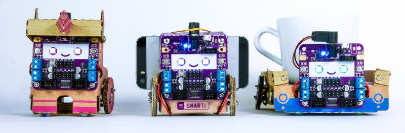 Smartibot Cardboard AI STEM Toy Learning Education App Programming Coding Kickstarter Wheels Driving Cup Around Remote Controlled Video Dog