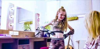 Open Bionics Deus Ex Growing Prosthetics Bionic Children Dual Young Girl Smiling Happy Home