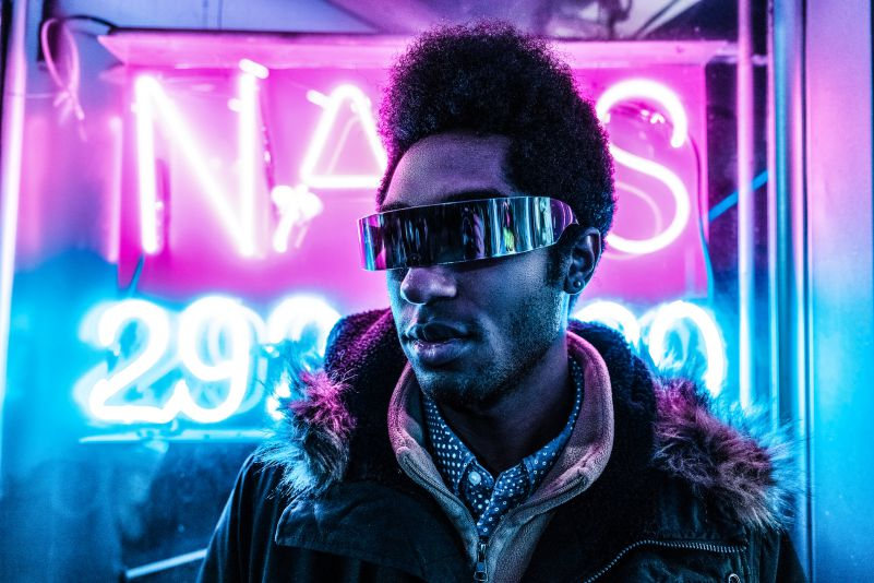 Cyborg Cyberpunk Visually Impaired Future Man Urban Fashion