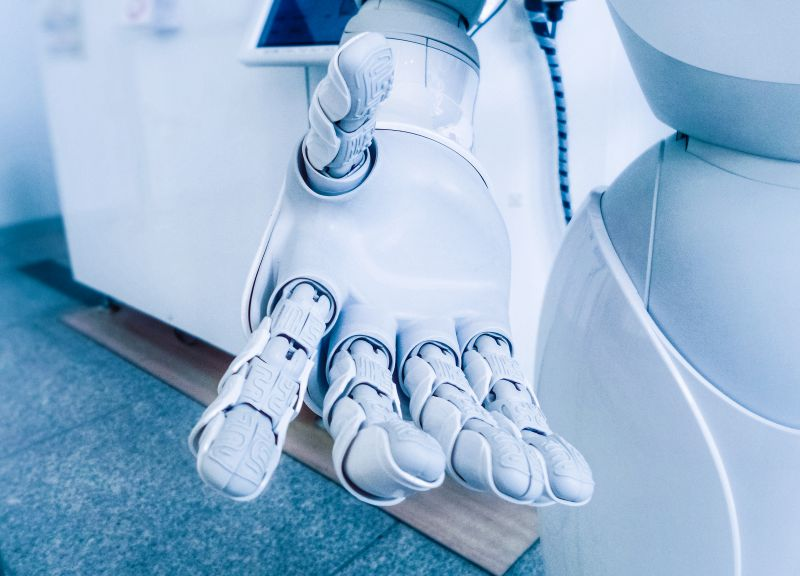 Robot Arm Artificial Limbs Prosthetics Opened Hand
