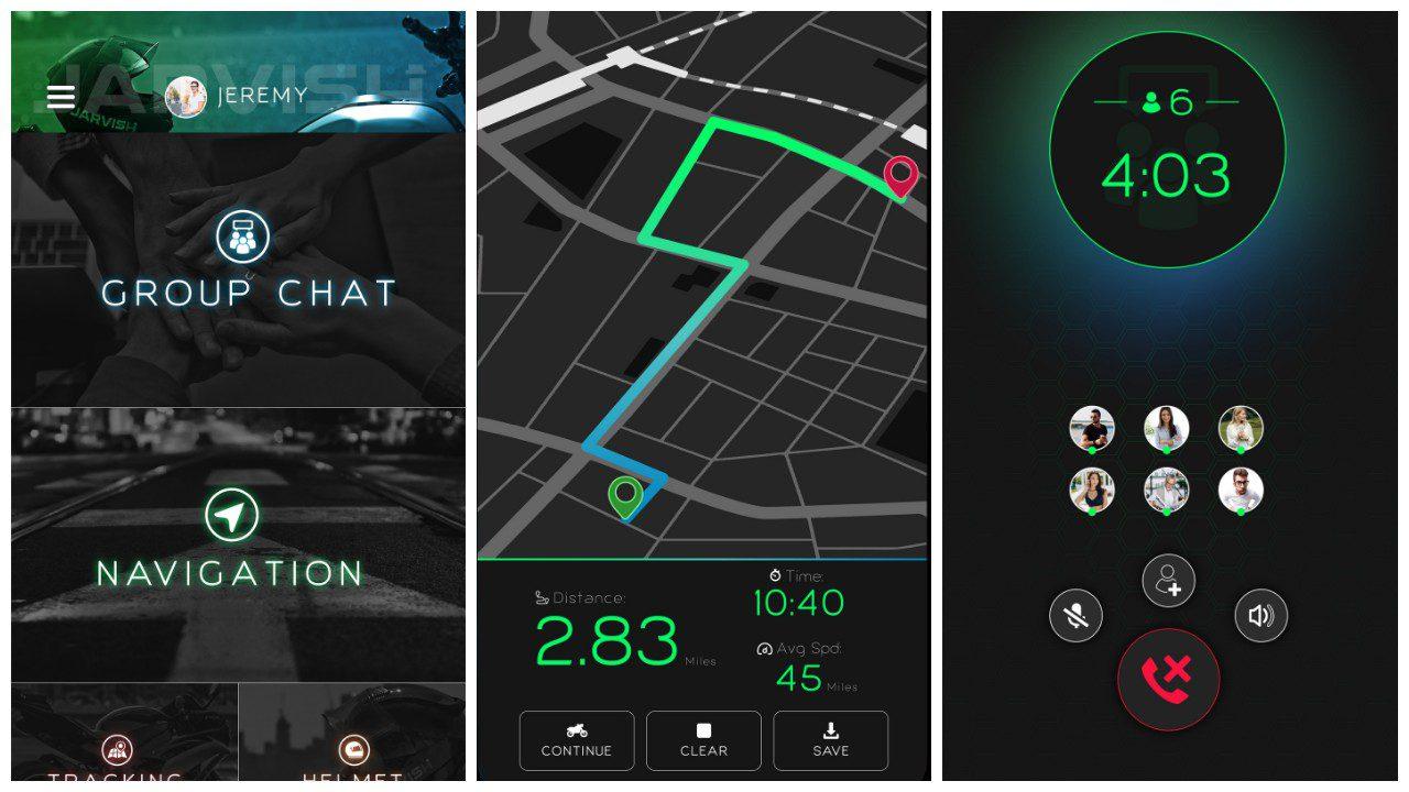 Screens Jarvish App