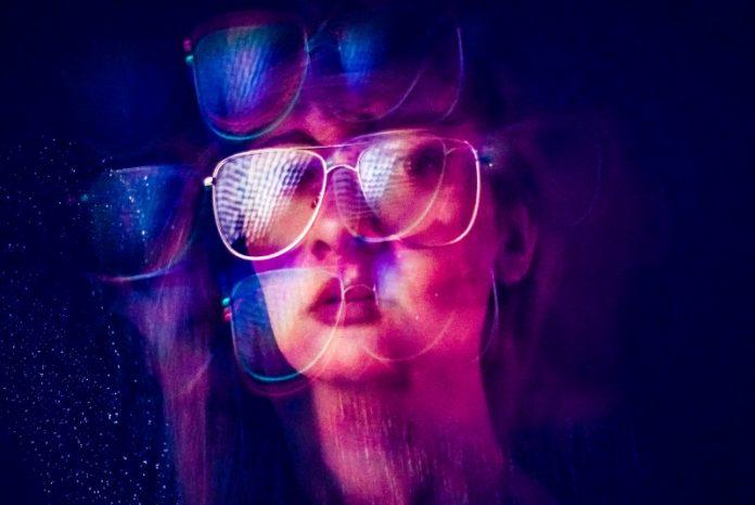 Girl Glasses Portrait Distorted Codec WaveOne ML AI Digital Media Compression