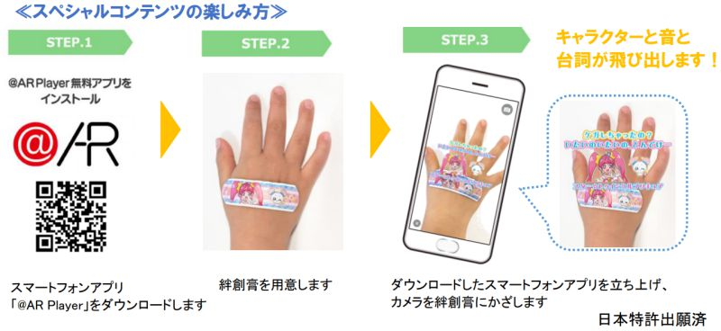 ARPlayer App Steps Bandai AR Bandaid How To Japanese
