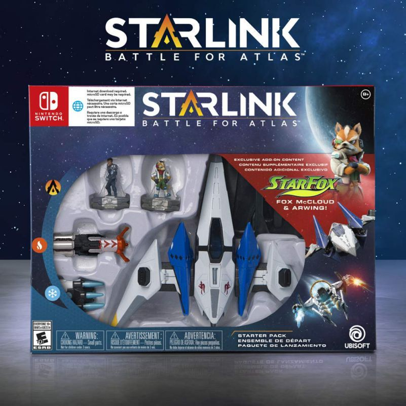 Starlink Battle For Atlas Boxart Nintendo Switch With Arwing Starfox Fox McCloud Ubisoft