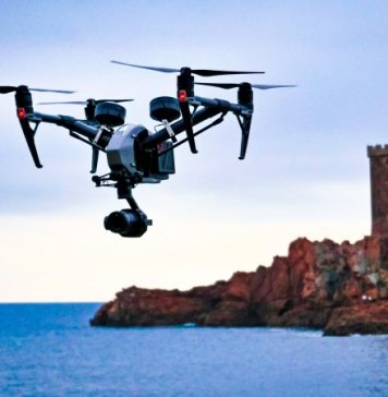 HOsiHO Aerial Drone Footage Network France Example Photography Castle Sea Island Vivid