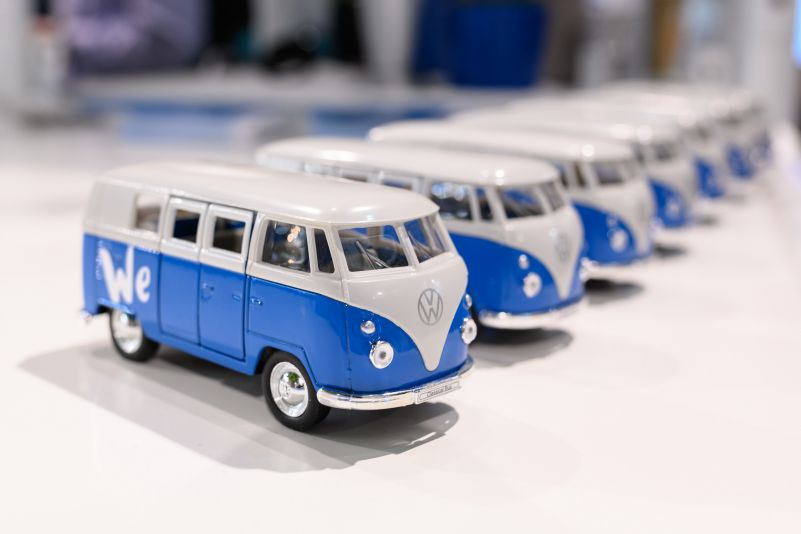 Robert Schlesinger Volkswagen We Booth MWC Barcelona 2019 Small Bully Bus Logo Brand Large