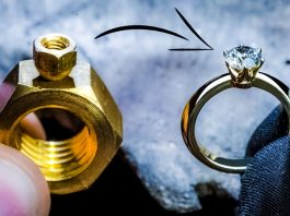 Turning 2 Hex Nuts into a Diamond Ring Video