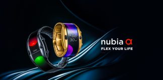 ZTE Numbia Alpha Flexible Smartphone Smartwatch Android Wear Flip