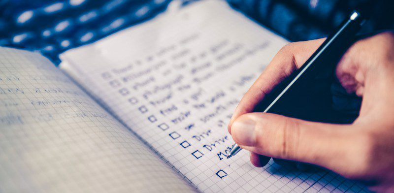 To-Do List Taking Notes Writing Organization Productivity Hand Pen Pencil Close Macro Timeboxing