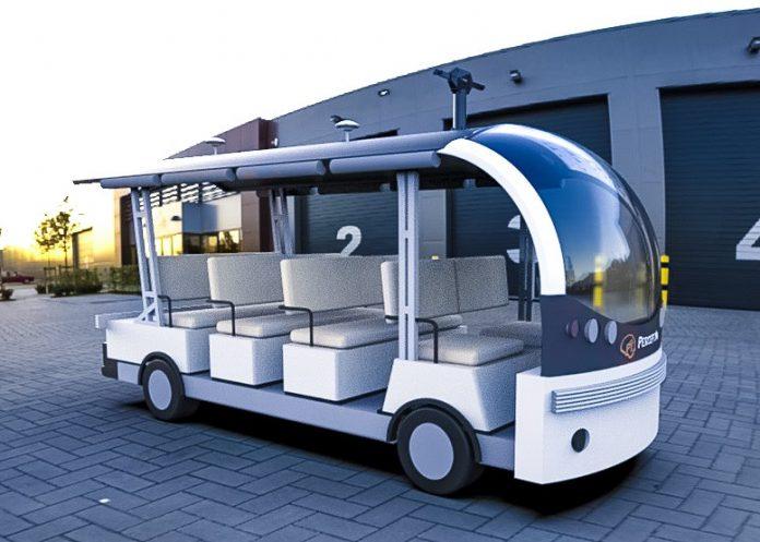 PerceptIn DragonFly Autonomous Shuttle Bus Render AV EV Crop