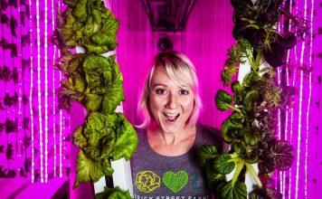 Shannon O'Malley Brick Street Farms Growing Produce Vertical Farming