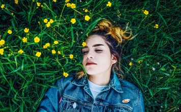 Sleepy Woman Lying In Grass Insomnia Chatbot Casper