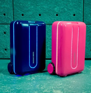 Travelmate Automatic Suitcase Robot Follows You Around Smart Luggage Remote Controlled App