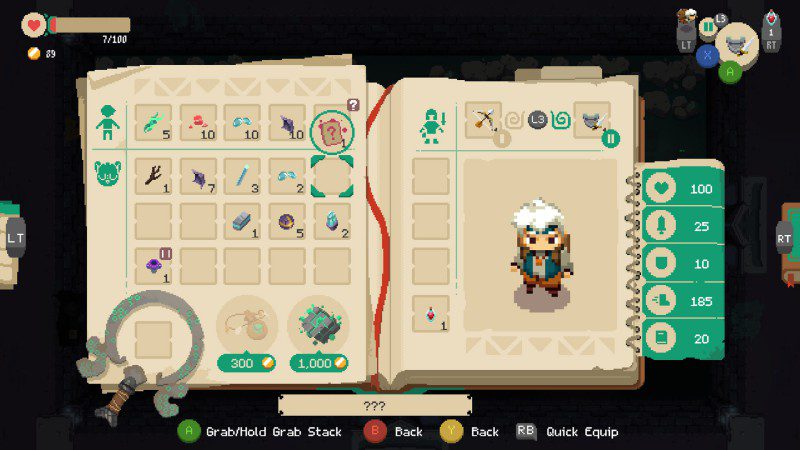 Moonlighter Screenshot Inventory