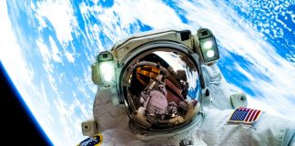 NASA Astronaut Selfie In Space World Background Earth
