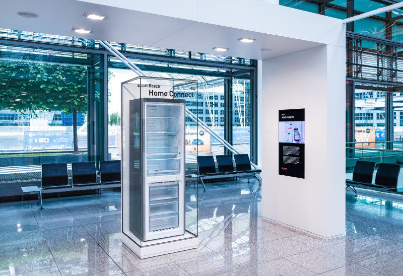 Bosch Home Connect Exhibition Smart Home Fridge With Smartphone App Connectivity IoT Camera