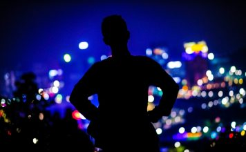 Man Standing At Night Silhouette Shenzhen Future China Video Report Feature Bloomberg