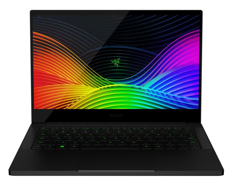 Blade Stealth 13 Late 2019 4K Render Product Image Razer Gaming Ultrabook Front View Open