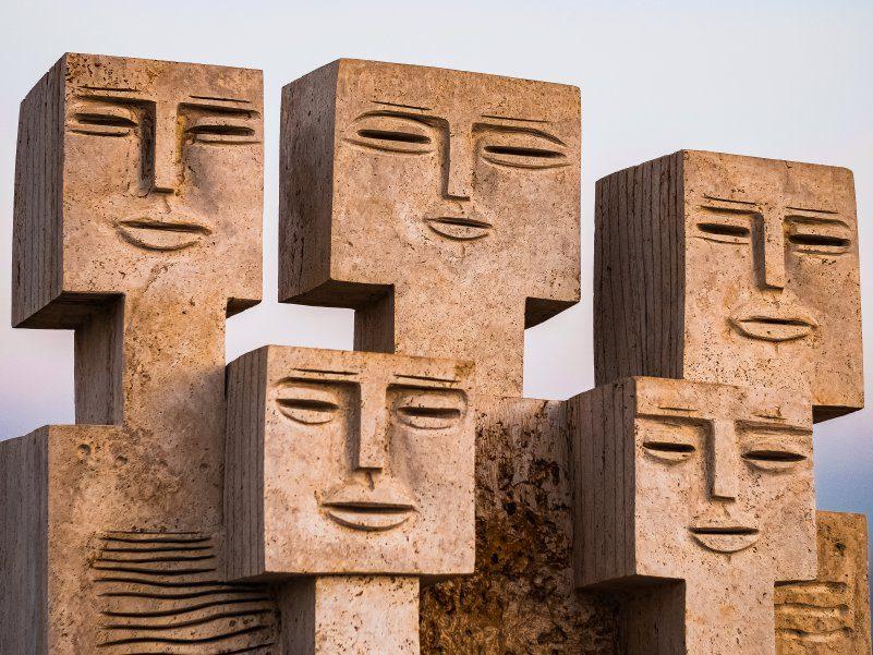 Stone Heads Iran