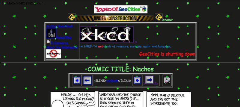 Geocities Design Example Retro Webdesign