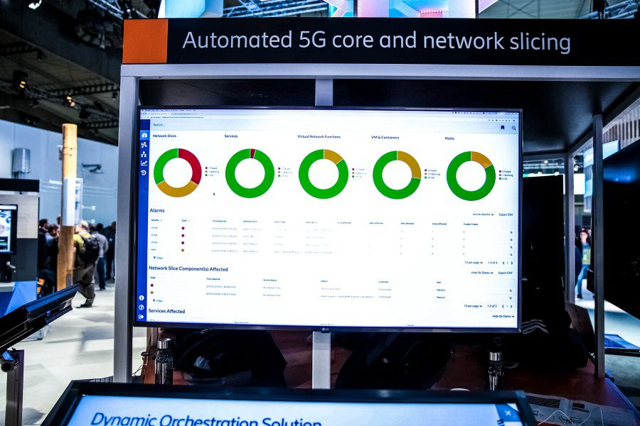 MWC Ericsson Automated 5G Core And Network Slicing Demo Booth