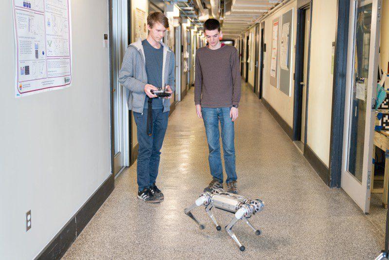 MIT Mini Cheetah Robotics News Benjamin Katz Jared Di Carlo EECS Professor Russ Tedrake Standing