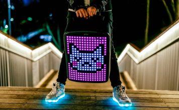 Pix Backpack Rucksack LED Screen Pixel Art Startup Design FashionTech
