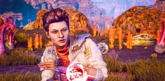 TOW The Outer Worlds Ellie Space Pirat Sawbones Doctor Medic Companion Obsidian Entertainment Independent Game Review