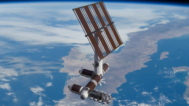 Axiom Space Station News ISS Plans SpaxeX Exterior Concept Photo